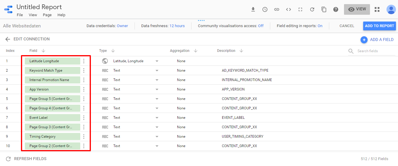 Google Data Studio _Connection to Google Analytics